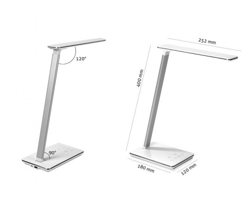 TecLines DL002 dimmable LED desk lamp, dimensions
