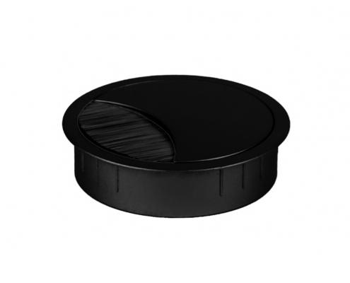TecLines TKD001 desk cable outlet 60x21 mm, black
