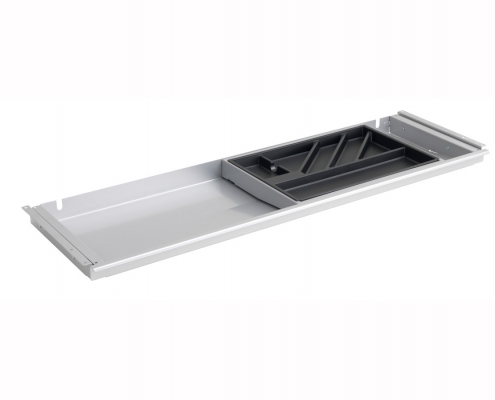 TecLines TUS001A Under desk drawer with plastic insert L in aluminum
