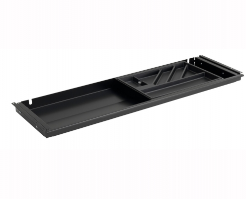 TecLines TUS001B Under desk drawer with plastic insert L in black