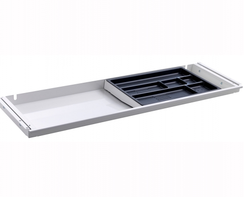 TecLines TUS001W Under desk drawer with plastic insert L in white