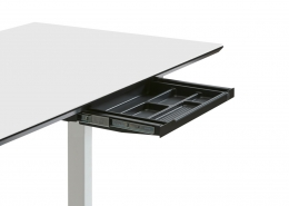 TecLines TUS003B pull-out under cabinet drawer S, black, lock installation possible at a later date